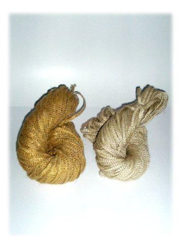 2Types Of Jute Tapes Plain Gold Tipped