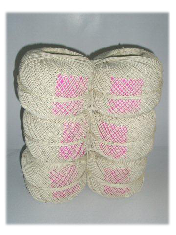 6 Ball Pack of Cotton Twine with Pink Label